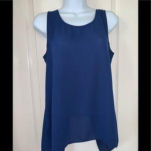 Blue express dressy tank top